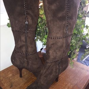 BCBG Faux Suede tall boots